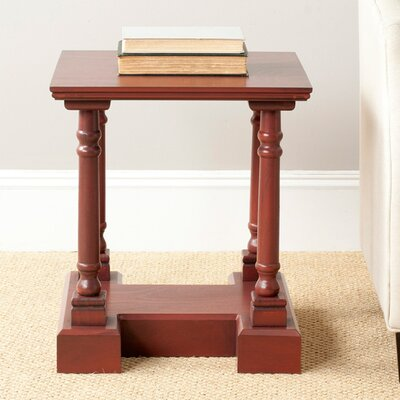Flinders End Table Color: Red