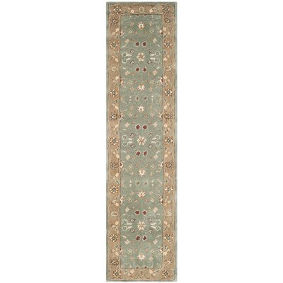 Dollman Hand-Hooked Sage/Copper Area Rug Rug Size: Runner 23 x 9