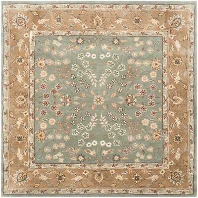 Dollman Hand-Hooked Sage/Copper Area Rug Rug Size: Square 6 x 6