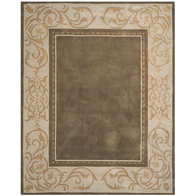 Grange Hand-Hooked Olive/Ivory Area Rug Rug Size: Rectangle 9 x 12
