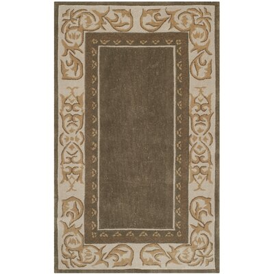 Grange Hand-Hooked Olive/Ivory Area Rug Rug Size: Rectangle 3 x 5
