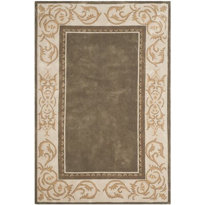 Grange Hand-Hooked Olive/Ivory Area Rug Rug Size: Rectangle 6 x 9