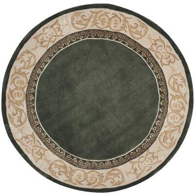 Grange Hand-Hooked Slate/Ivory Area Rug Rug Size: Round 8 x 8