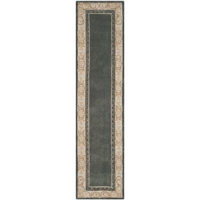 Grange Hand-Hooked Slate/Ivory Area Rug Rug Size: Runner 23 x 9