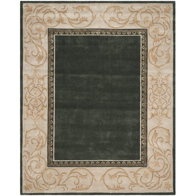 Grange Hand-Hooked Slate/Ivory Area Rug Rug Size: Rectangle 9 x 12