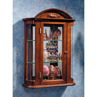 Pascual Wall Curio Accent Cabinet