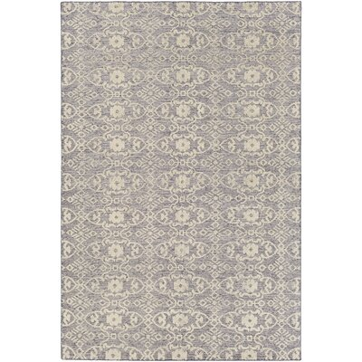 Eramana Hand Hooked Gray/Beige Area Rug Rug Size: Rectangle 4 x 6