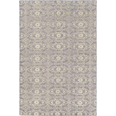 Eramana Hand Hooked Gray/Beige Area Rug Rug Size: 6 x 9