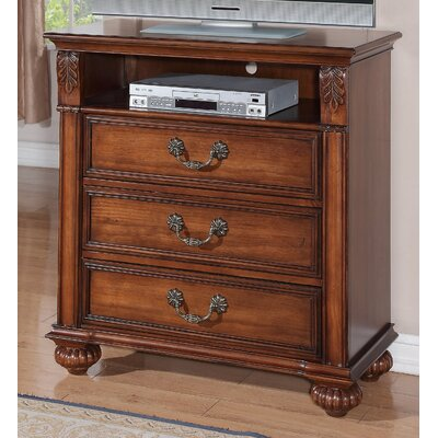 Leigh 3 Drawer Media Chest