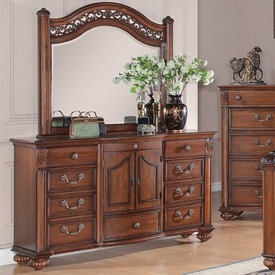 Millikin 10 Drawer Dresser with Mirror