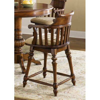Albrightsville 30 Swivel Bar Stool Finish: Light Toffee