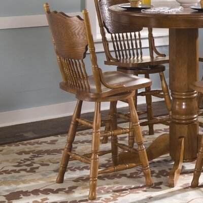 Acadian Swivel Bar Stool Height: 24