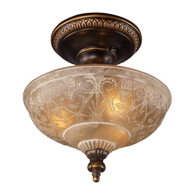 Antioch 12 3-Light Semi Flush Mount