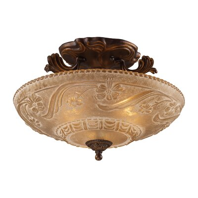 Antioch 16 3-Light Semi Flush Mount