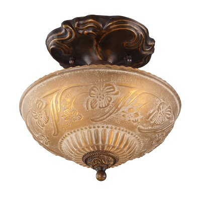 Antioch 10 3-Light Semi Flush Mount