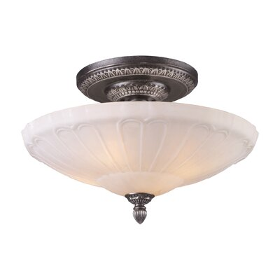 Antioch 20 4-Light Semi Flush Mount in Dark Silver