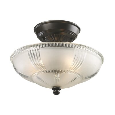Antioch 3-Light Semi Flush Mount Finish: Oiled Bronze