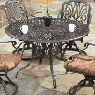 Tardiff Floral Blossom Dining Table Table Size: 48, Finish: Charcoal