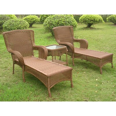 Yvette 3 Piece Chaise Lounge Set Finish: Mocha