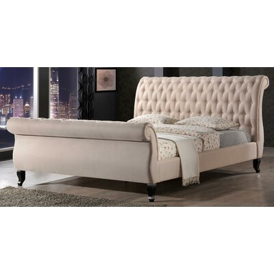 Edwyn Upholstered Sleigh Bed Size: King, Finish: Sand