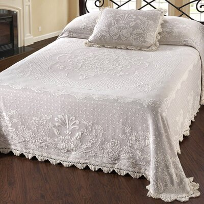 Erich Matelasse Bedspread Size: Full, Color: White