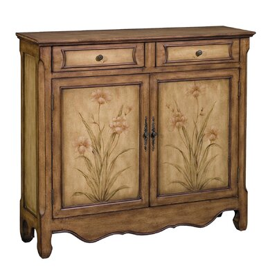 Chitwood Aged Floral 2 Drawer Cupboard