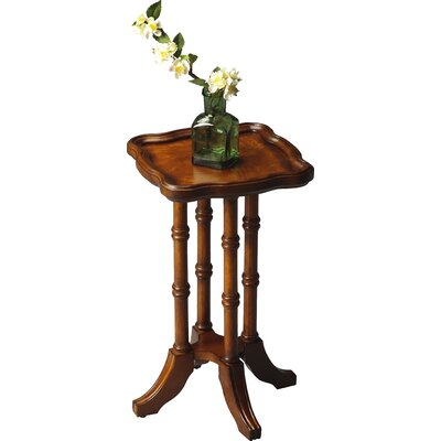 Bryan Square Scatter End Table in Distressed Olive Ash Burl