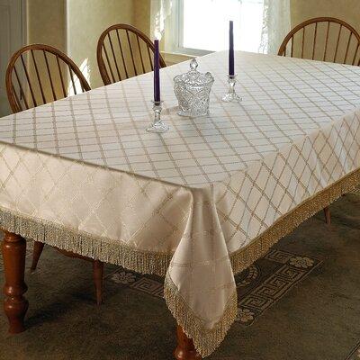 Cheever Damask Design Fringe Tablecloth
