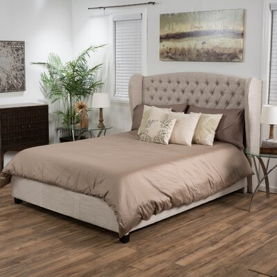 Montmorency Upholstered Panel Bed Size: Full, Upholstery: Light Beige