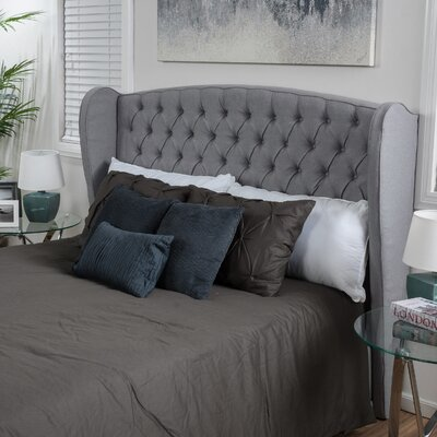Eno Upholstered Headboard Size: Full/Queen, Upholstery: Silver Gray