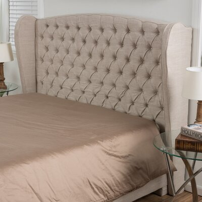 Eno Upholstered Headboard Size: Full/Queen, Upholstery: Light Beige