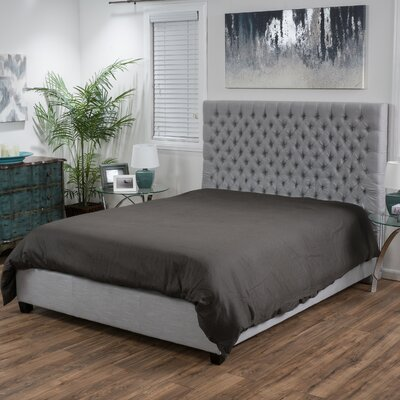 Fresnes Upholstered Panel Bed Size: Full, Headboard Color: Light Gray