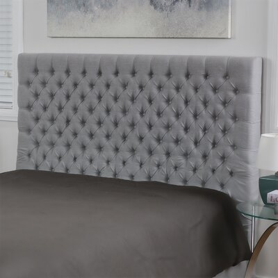 Hummell Upholstered Panel Headboard Size: King/California King, Upholstery: Gray