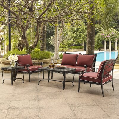 Nadine 5 Piece Seating Group with Cushion