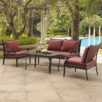 Nadine 4 Piece Seating Group with Cushion