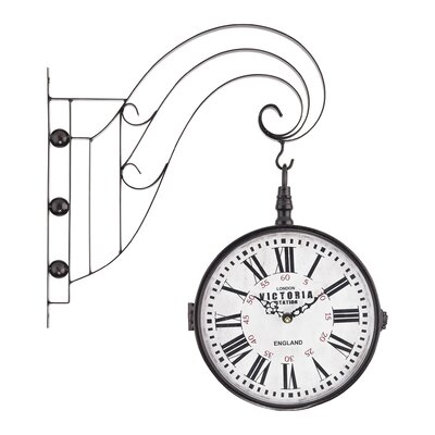 Double Sided Iron Scroll Wall Clock