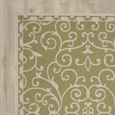 Clayburn Sweet Pea/Cream Indoor/Outdoor Area Rug