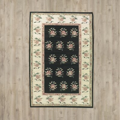 Cedarfields Hand Knotted Wool Black Area Rug