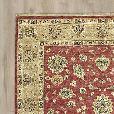 Barge Hand-Knotted Red Area Rug