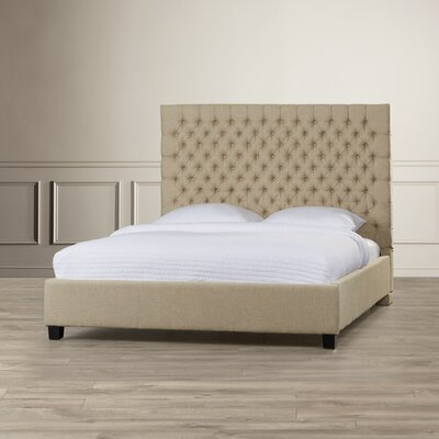 Fresnes Upholstered Panel Bed Size: Full, Upholstery Color: Dark Beige