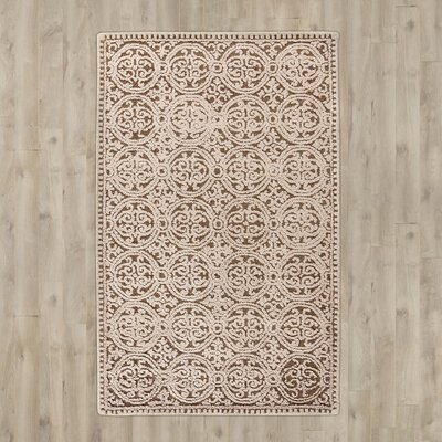 Sibanye Hand-Tufted Tan Area Rug Rug Size: Square 4'