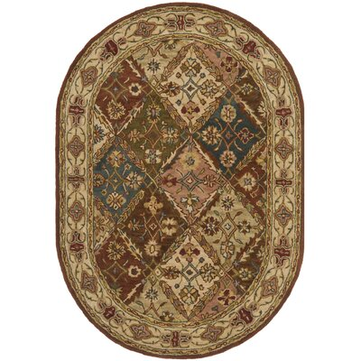 Winningham Oval Hand-Tufted Beige/Beige Area Rug