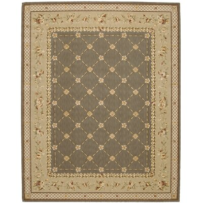 Christa Green Area Rug Rug Size: 12 x 15