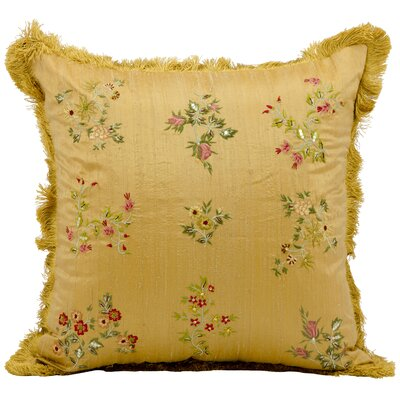 Destiny Embroidery Silk Throw Pillow