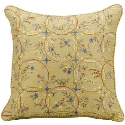 Claudette Embroidery Silk Throw Pillow