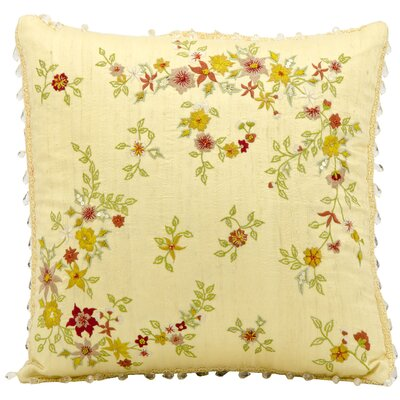 Darcy Embroidery Silk Throw Pillow