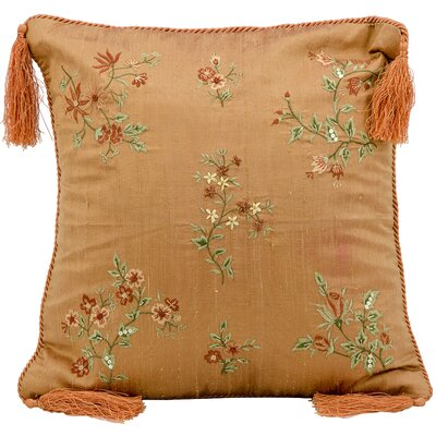 Cora Embroidery Silk Throw Pillow
