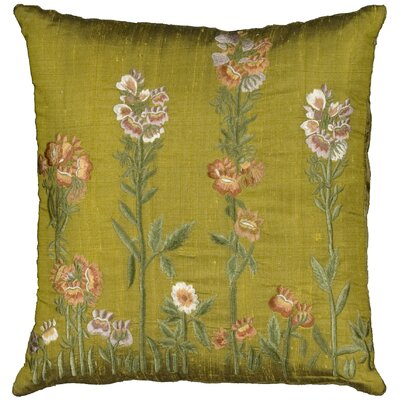 Opalstone Embroidery Silk Throw Pillow