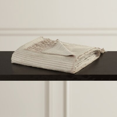 Housman Throw Blanket Color: Beige