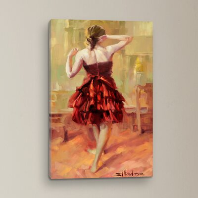 Girl in A Copper Dress Original Painting on Canvas